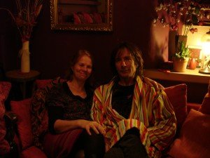 Tim and Liz relax in the 'Opium Den': once De Quincey's writing space?